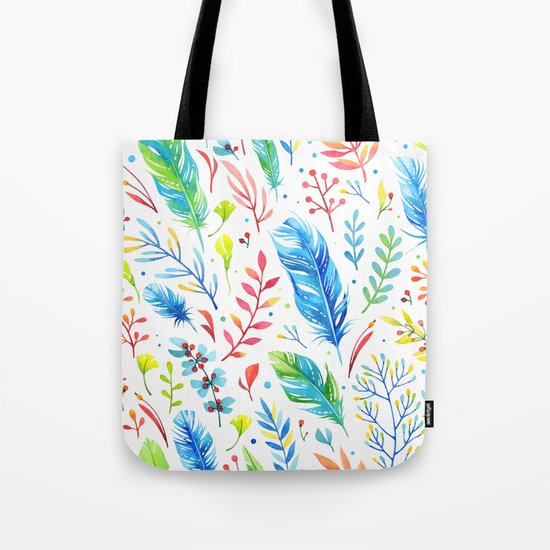 Feathers Pattern 01 Tote Bag