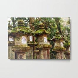 Nara Lanterns Metal Print