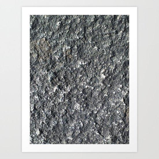 rock texture Art Print