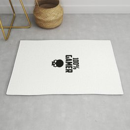 gamer logo and quote Rug