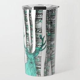 Turquoise Stag Travel Mug