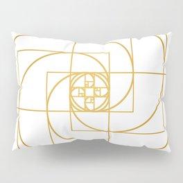 Golden Pinwheel Pillow Sham
