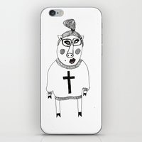 pig iPhone & iPod Skins featuring Pig by KRADA ZHAN ART