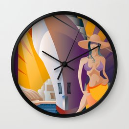 Boat Show Girl Wall Clock