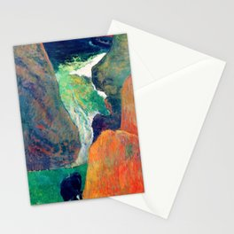 Paul Gauguin - Marine with Cow, or Above the Gulf - Digital Remastered Edition Stationery Cards