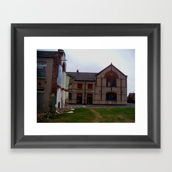 broken housing Framed Art Print