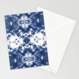Shibori Tie Dye 4 Indigo Blue Stationery Cards