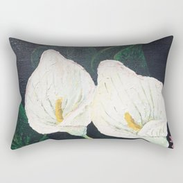 Calla Lily ... Winter Lilly Lily Lilies Lillies White Rectangular Pillow