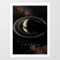 saturn Art Prints featuring SATURN by Alexander Pohl