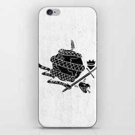 Be Not Afraid In This World iPhone Skin