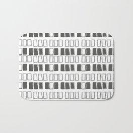 Blocks White/Grey Bath Mat