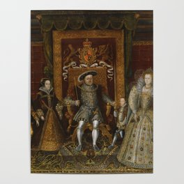 The family of Henry VIII Poster