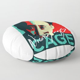 Nicolas Cage Signed Art | Funny Meme | Nic Cage Face | Gift For Men, Woman Floor Pillow