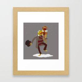 Kermit Christmas Carol Framed Art Print