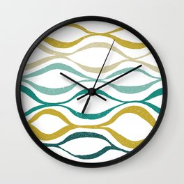 Catch the Wave (Jade) Wall Clock