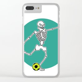 Calavera Soccer Clear iPhone Case