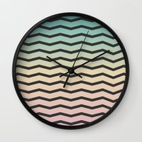 gradient Wall Clocks featuring Gradient. by Jake  Williams