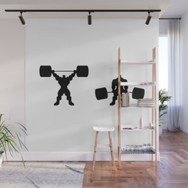 Heavy weight lifting up and down Wall Mural