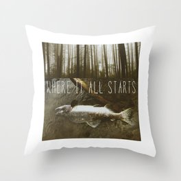 Where It All Starts (The Love You Give) Throw Pillow