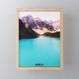 Vintage Vacation Lake Mountains Framed Mini Art Print