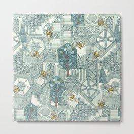 hexagon city Metal Print
