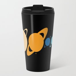 Planets And Moons To Scale Travel Mug