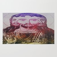 christ Area & Throw Rugs featuring Thrice Christ by EclecticArtistACS