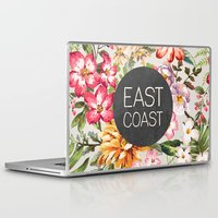 tupac Laptop & iPad Skins featuring East Coast by Text Guy