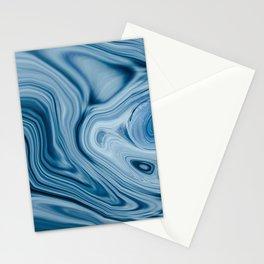 Splash of Blue Swirls, Digital Fluid Art Graphic Design Stationery Cards
