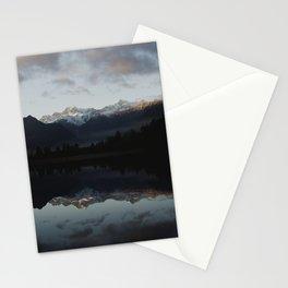 catching the sunrise at lake matheson Stationery Cards