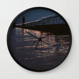 Pier Nights Wall Clock