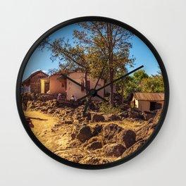 Village of Madagascar Wall Clock