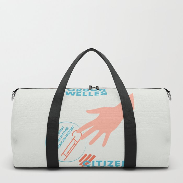 Citizen Kane, minimal movie poster, Orson Welles film, hollywood masterpiece, classic cinema Duffle Bag