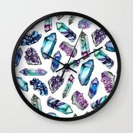 Amethyst in watercolour Wall Clock