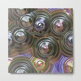 Mirror Circles Metal Print
