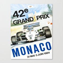 poster monaco 42e grand prix 1984 Canvas Print