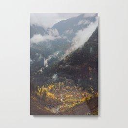 Glacier Valley Fall Metal Print