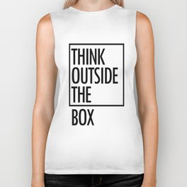 Think outside the box Biker Tank