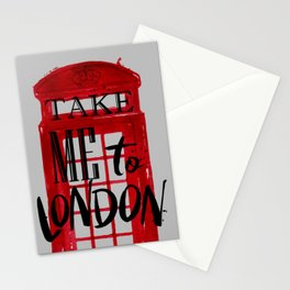 Take me to London - Visit London - London phone booth Stationery Cards