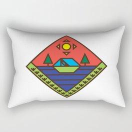 Sunset Camper Badge Rectangular Pillow