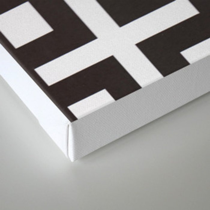 black and white symbol Canvas Print