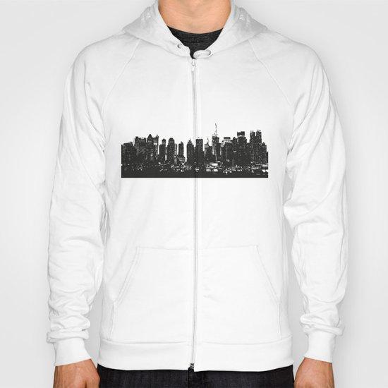 New York black and white high quality art print Hoody