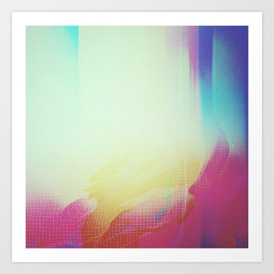 Glitch 16 Art Print