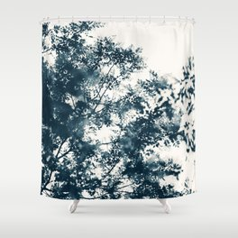 Blue Leaves #1 Shower Curtain