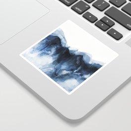 Abstract Indigo Mountains 2 Sticker