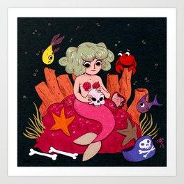 Mermaids Love Humans Art Print