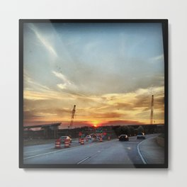 Sunset On the six three zero Metal Print