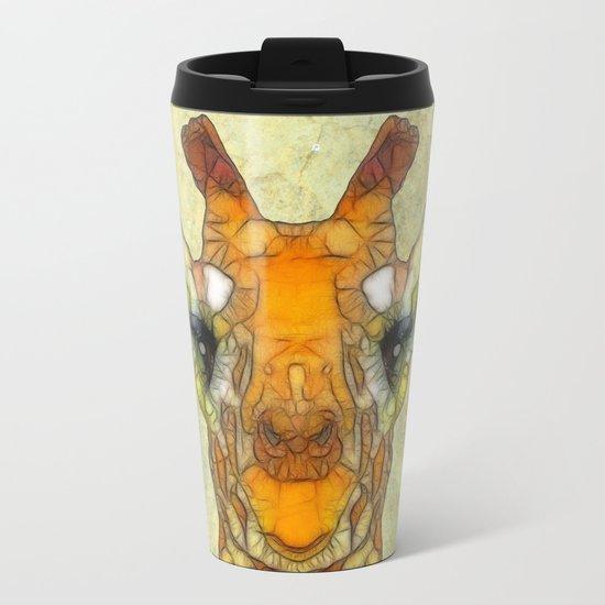 abstract giraffe calf Metal Travel Mug