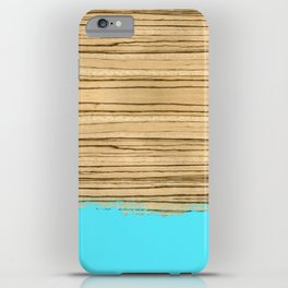 Dipped Wood - Zebrawood iPhone Case