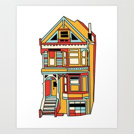 San Francisco House Illustration Art Print